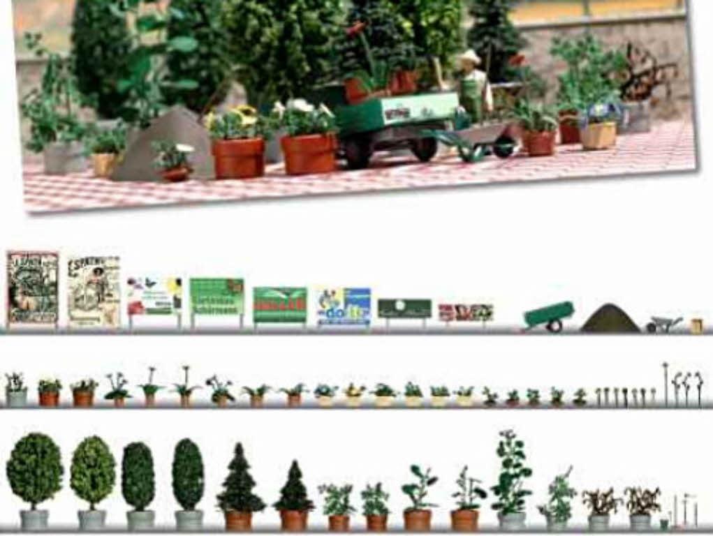 Busch 1211 Blumen- und Pflanzkübel Set Garten- und Landschaftsbau H0 ...