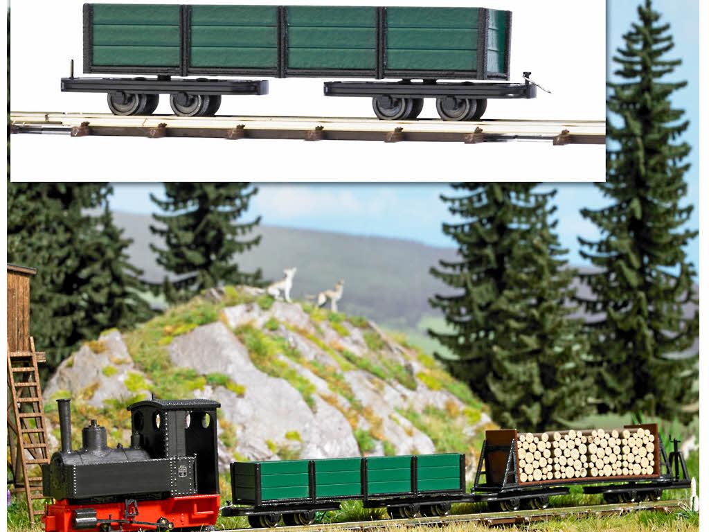 Busch 12246 Drehgestell Niederbordwagen zur Feldbahn H0f