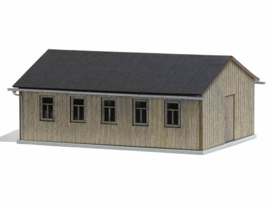 busch 1544 baracke holzbaracke schuppen scheune echt holz. Black Bedroom Furniture Sets. Home Design Ideas