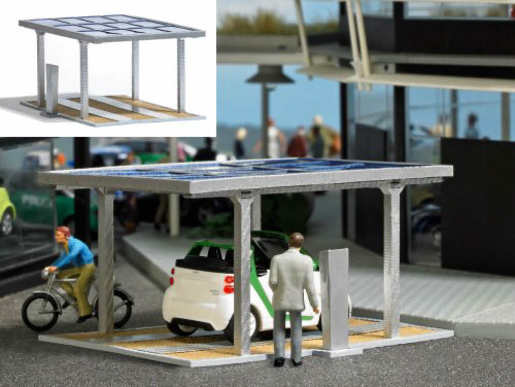 busch 1573 solarcarport mit stromzapfs ule solar carport 1 87 h0 bausatz neu ebay. Black Bedroom Furniture Sets. Home Design Ideas