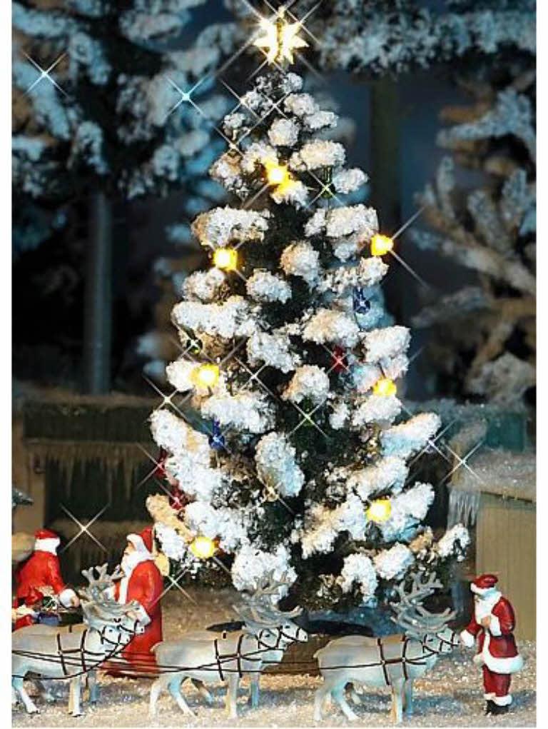 busch 5411 beleuchteter weihnachtsbaum 9cm h0 neu ebay. Black Bedroom Furniture Sets. Home Design Ideas
