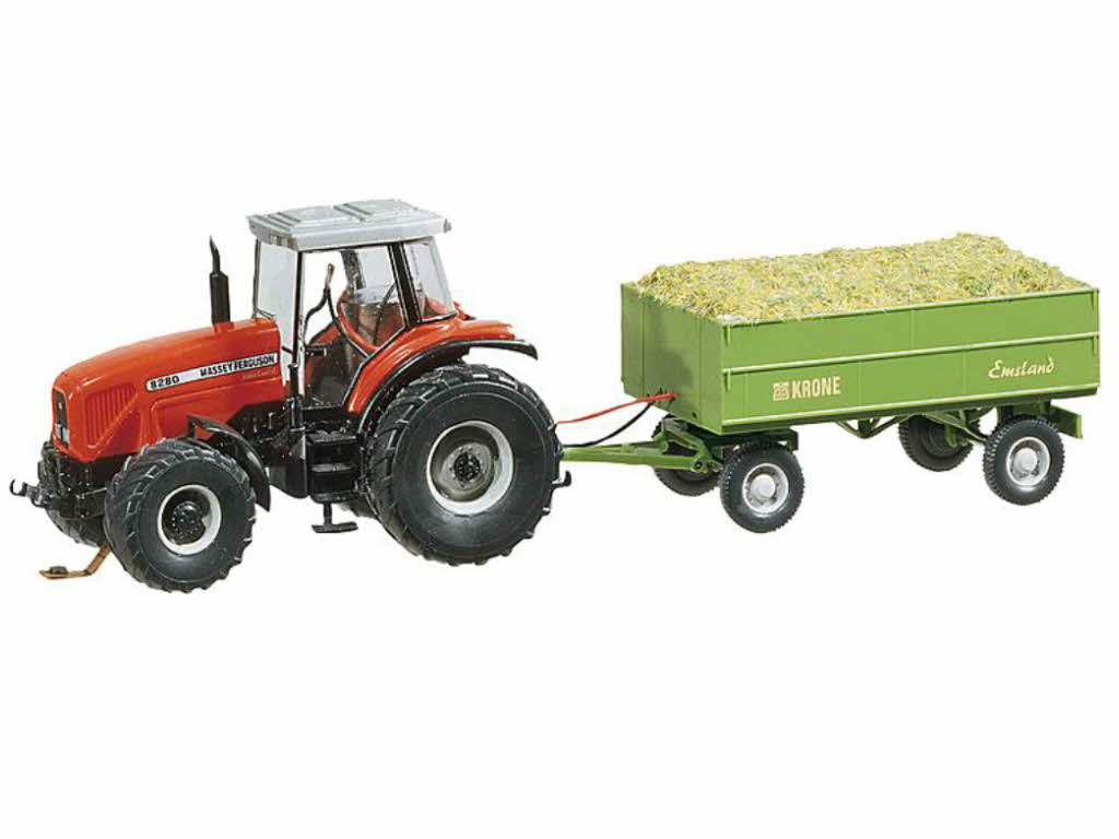 faller 161536 car system traktor mf mit anh nger trecker h0. Black Bedroom Furniture Sets. Home Design Ideas