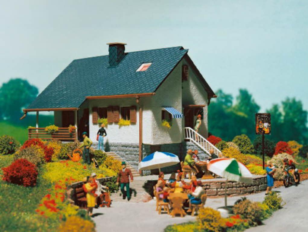 vollmer 43848 haus im park wohnhaus h0 bausatz bungalow einfamilienhaus. Black Bedroom Furniture Sets. Home Design Ideas